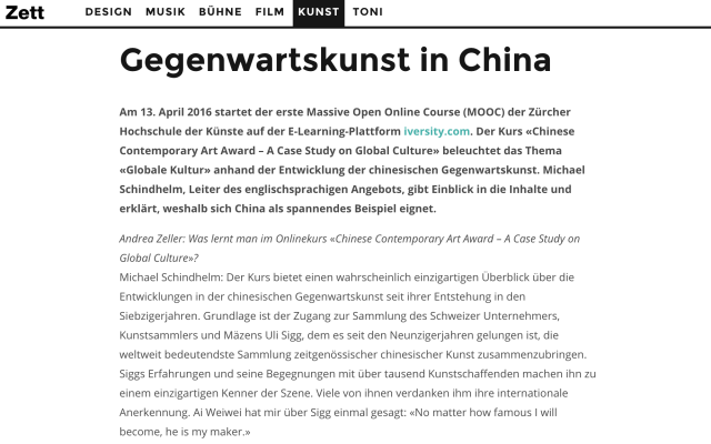 Gegenwartskunst in China