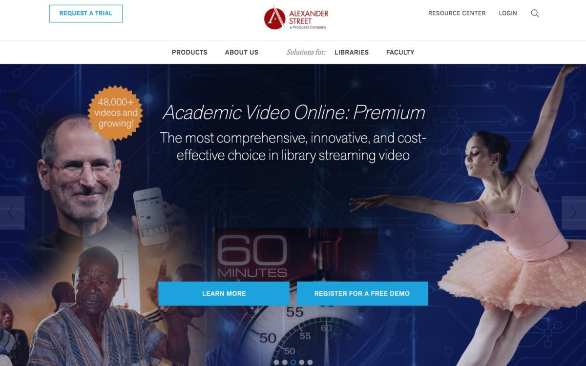 Alexander Street –Videodatenbank