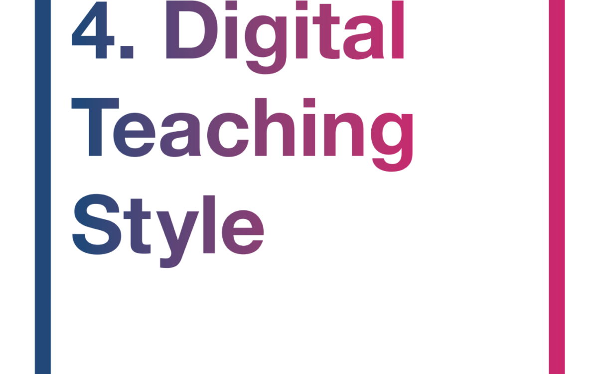 #4 Digital Teaching Style |Video Conferencing | 14.11.18