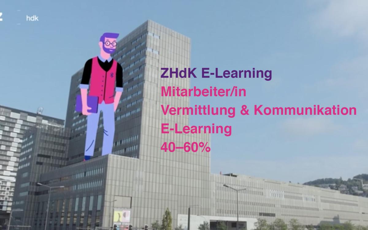 Zusammen das E-Learning gestalten? Wir suchen ein/e Mitarbeiter/in Vermittlung & Kommunikation E-Learning.