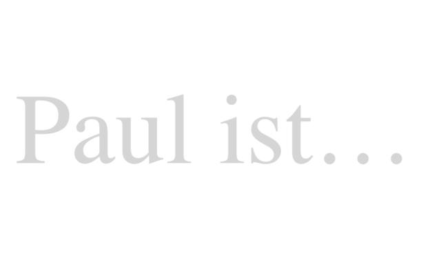 Ein Gedicht für PAUL