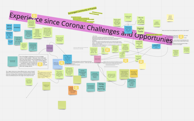Corona-Erfahrungen im digitalen Lernen und Lehren: Exchanged CoP #1