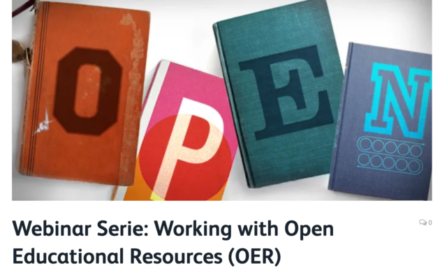 Working with Open Educational Resources (OER)