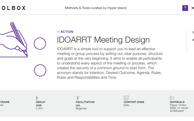 IDOARRT Meeting Design